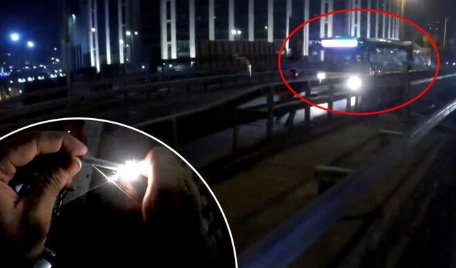 İstanbul'da şoke eden olay! E-5'te attı, otobüsün altında patladı…