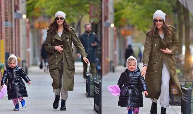 Ver elini kızım! Irina Shayk kızı Lea yürüyüşte