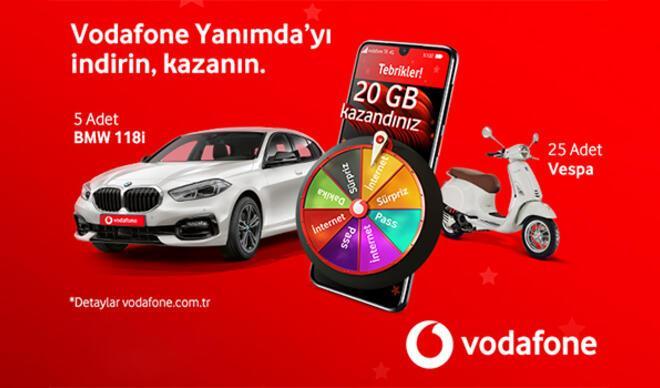 Vodafone'un Hediye Çarkı'nı çevirenlere sürpriz hediyeler