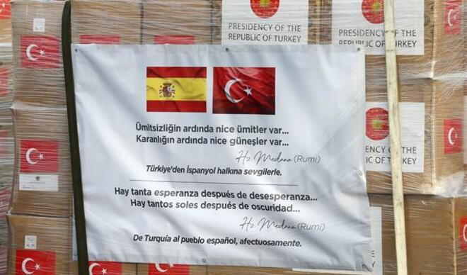 Türkiye'den İspanya ve İtalya'ya tıbbi yardım