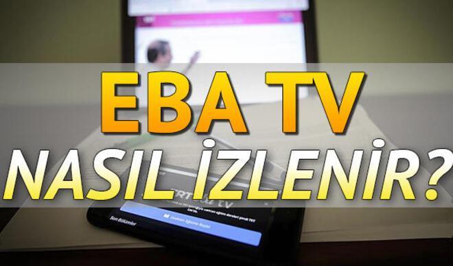 3 Nisan TRT EBA ilkokul ortaokul lise dersleri   TRT EBA TV canlı yayını nasıl izlenir?