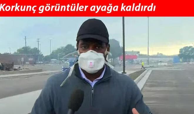 CNN muhabiri olay yerinde anlattı! ABD yangın yeri