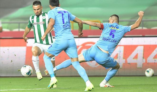 Konyaspor - Rizespor maçından en özel kareler