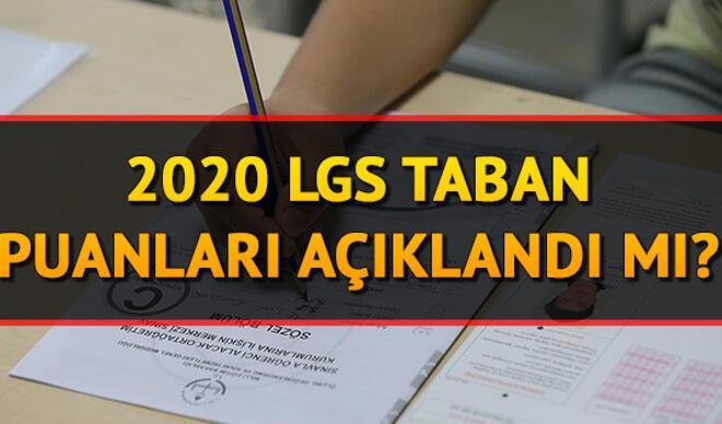 LGS taban puanları ve yüzdelik dilimleri açıklandı mı 2020? Lise taban puanları!