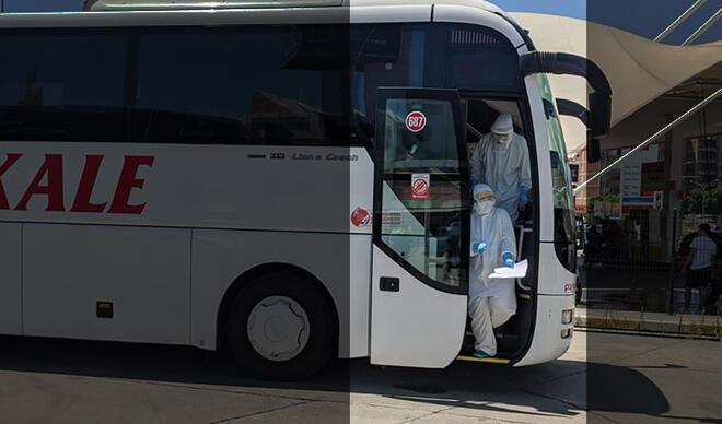 Otobüste koronavirüs paniği!