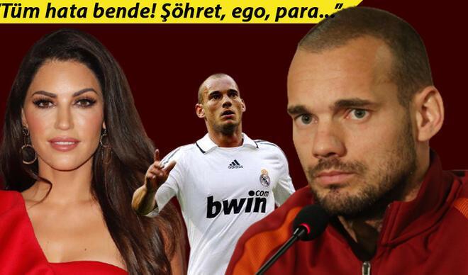 "Son Dakika | Wesley Sneijder'den olay itiraflar! ""Her şeyi mahvettim..."""