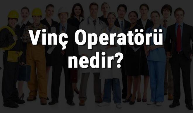 Vinç Operatörü nedir, ne iş yapar ve nasıl olunur? Vinç Operatörü olma şartları, maaşları ve iş imkanları