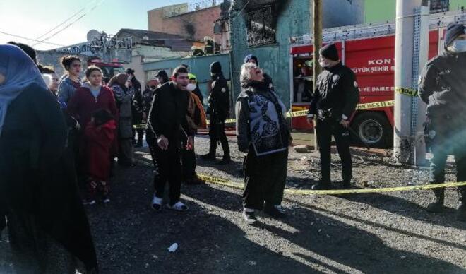 Konya'da kahreden yangın