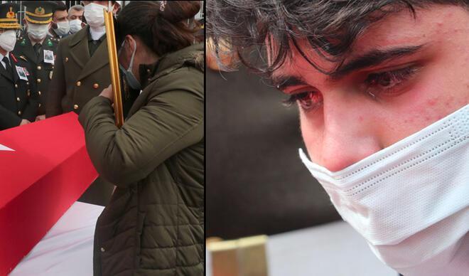 Kahramanlara gözyaşlarıyla veda... Vasiyeti yerine getirildi
