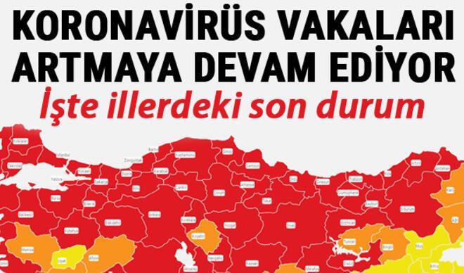 Koronavirüs 10 Nisan tablosu günlük vaka sayıları son durum...  İstanbul'da vaka sayısı 10 kat arttı... İşte il il corona virüs vaka sayısı haritası
