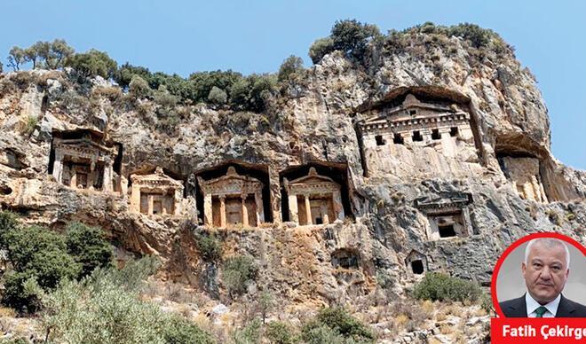 Kaya mezarlarına jet araştırma