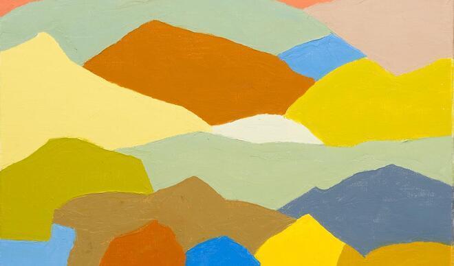 Etel Adnan resimleri: Renklerle yazılmış şiirler