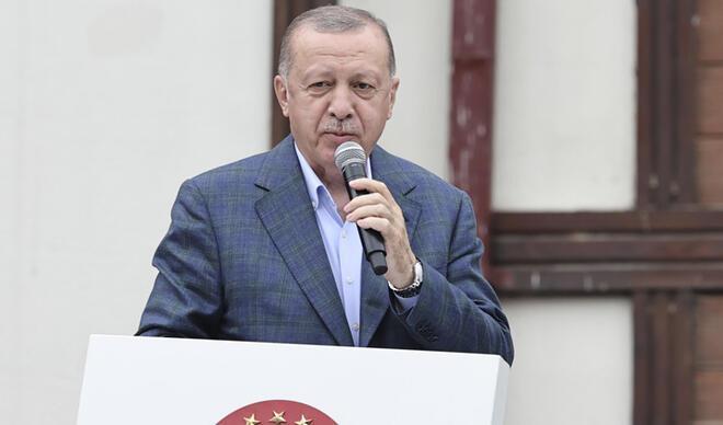 Cumhurbaşkanı Erdoğan sel bölgesinde... 'Toplam 550 konut inşa edeceğiz'