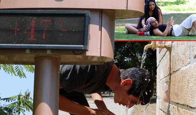 Termometreler 47 dereceyi gösterdi: Cehennemin fragmanı gibi