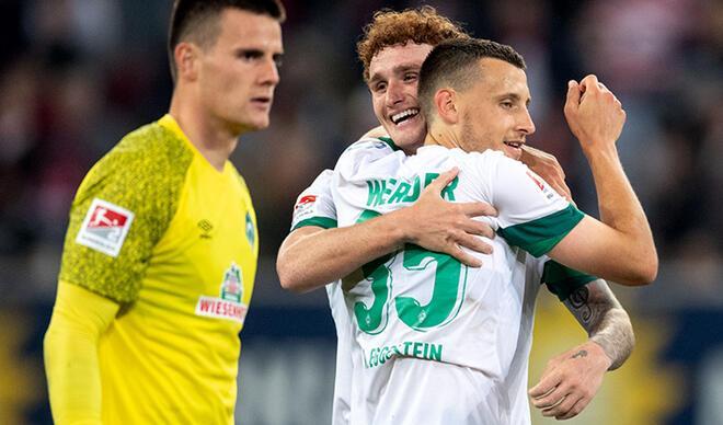 Werder Bremen'in yüzü deplasmanda güldü