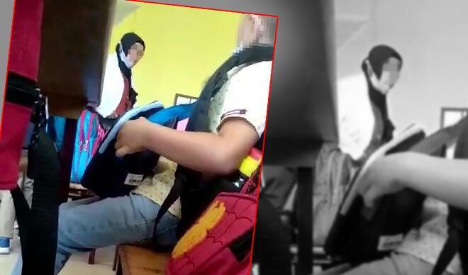 Okulda skandal görüntüler! Minik öğrenci gözyaşları içinde kaldı