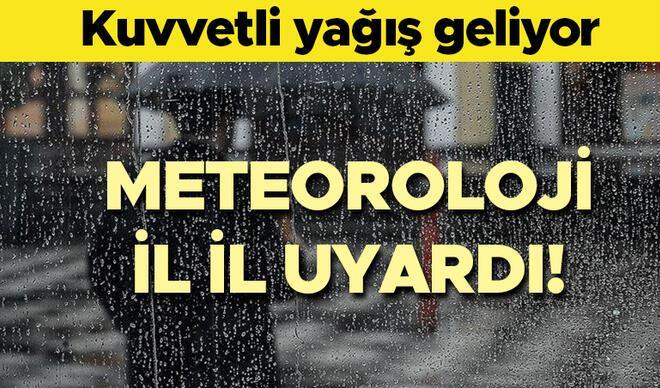 Meteoroloji'den son dakika hava durumu uyarısı: Pazar günü hava nasıl olacak? İstanbul ve bir çok ile geliyor