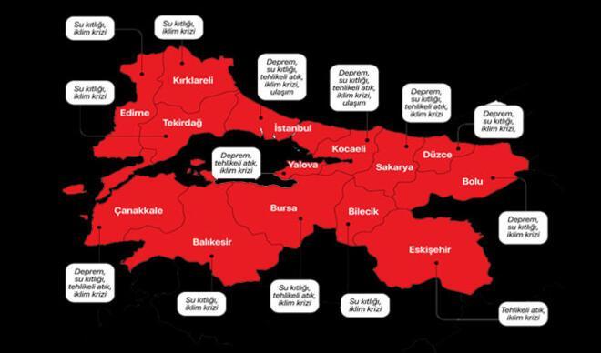 Marmara'nın risk haritası açıklandı