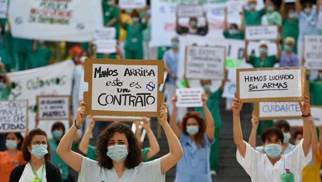 İspanya'da sağlık çalışanları isyan etti