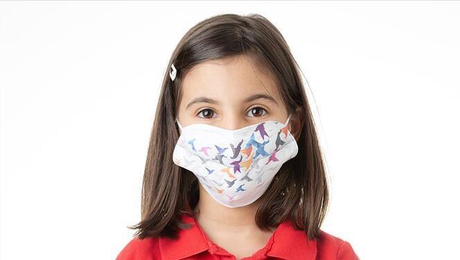 Çocuk maskesi üretimi başladı