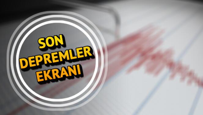Deprem mi oldu? AFAD ve Kandilli 13 Temmuz son depremler verileri