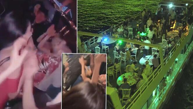 Corona virüse aldırmadan Haliç'te yat partisi düzenlediler