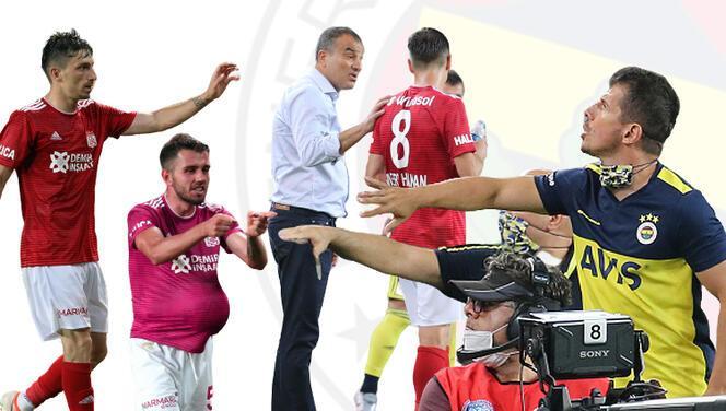 Fenerbahçe - Sivasspor maçında o an! Mert Hakan'dan Emre Belözoğlu'na: Ağabey noluyor ya