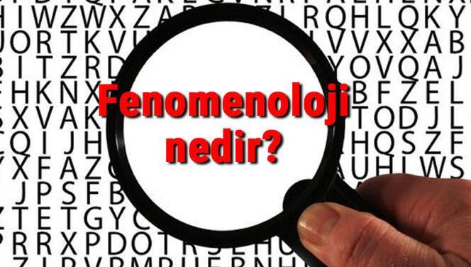 Fenomenoloji nedir? Fenomenoloji (Görüngübilim) örnekleri, temsilcileri ve hakkında kısaca bilgi