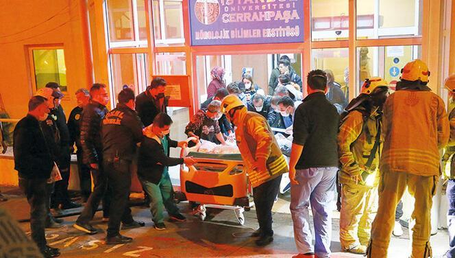 Cerrahpaşa'da yangın paniği