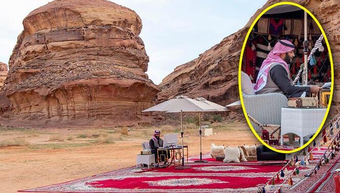 Suudi Arabistan veliaht prensi Davos'a çölden katıldı!