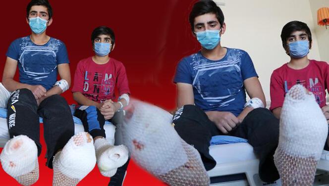 Erzincan'da korkunç olay! Ayak tabanları patladı...