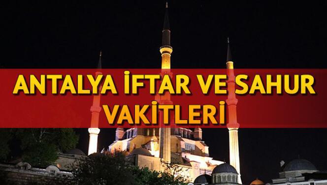 Antalya iftar vakti:Antalya'da iftar, akşam ezanı sahur saat kaçta? 2021 Ramazan İmsakiyesi