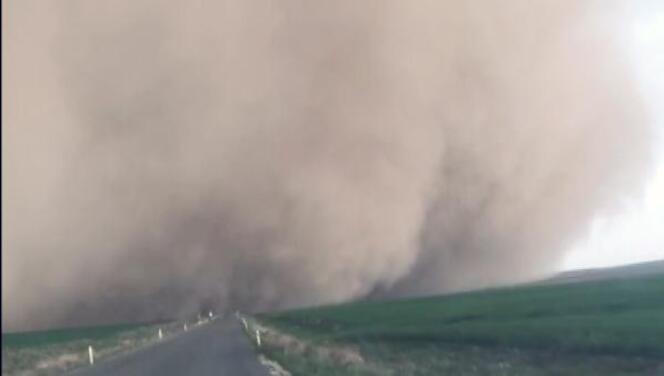 Konya'da etkili olan kum fırtınasının görüntüleri ortaya çıktı