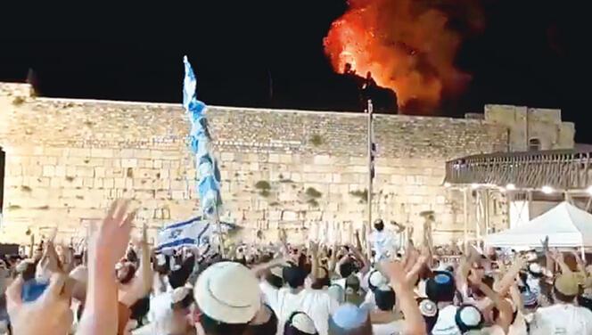 Kudüs'te kan donduran sahneler: Fanatik İsrailliler Mescid-i Aksa önünde intikam dansı ettiler