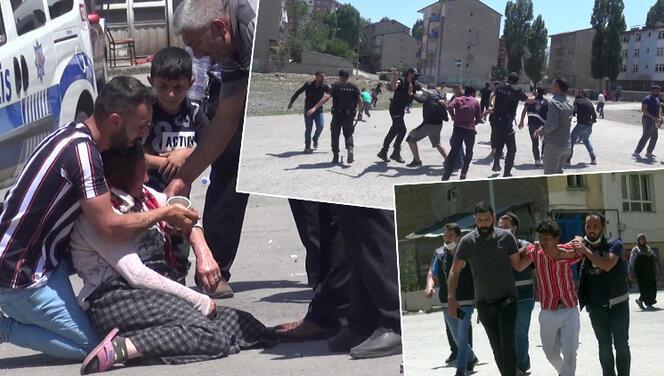 Erzurum'da ortalık fena karıştı! Ortalık savaş alanına döndü