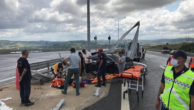 Kuzey Marmara Otoyolu'nda feci kaza! 1 ölü, 4 yaralı
