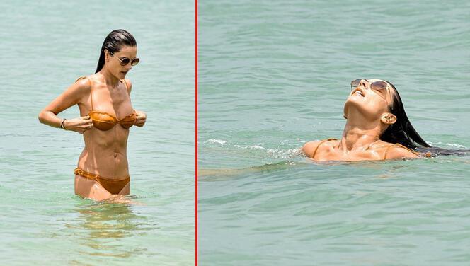 Alessandra Ambrosio tatile memleketine gitti