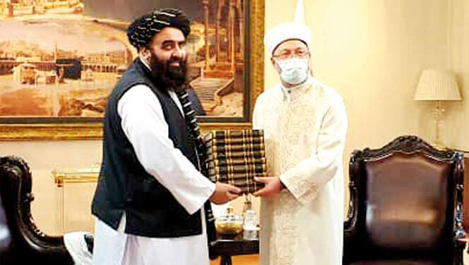 Diyanet İşleri Başkanı, Taliban heyetiyle görüştü