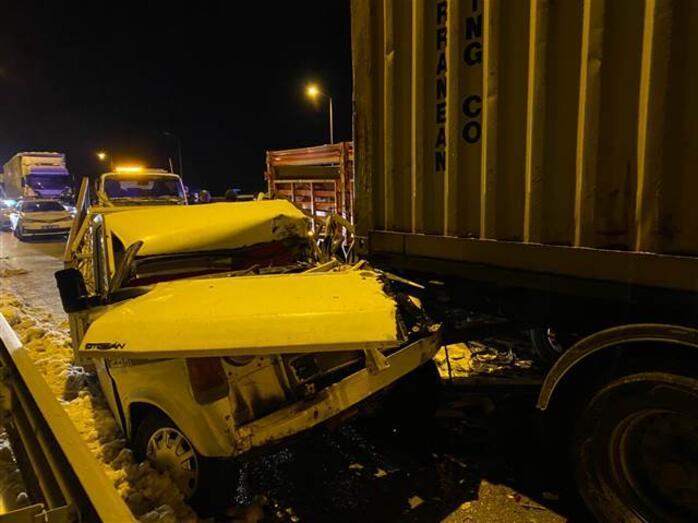 Samsunda zincirleme kaza 15 araç birbirine girdi