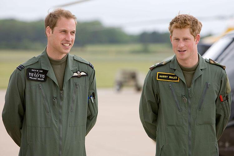 Harry ve William fast fooda bayılırdı