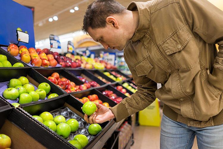 Çok fazla sebze ve meyve alıyorsunuz.