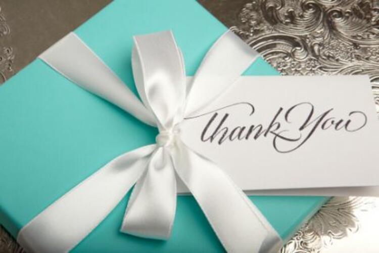 2) Teşekkür notu bırakın