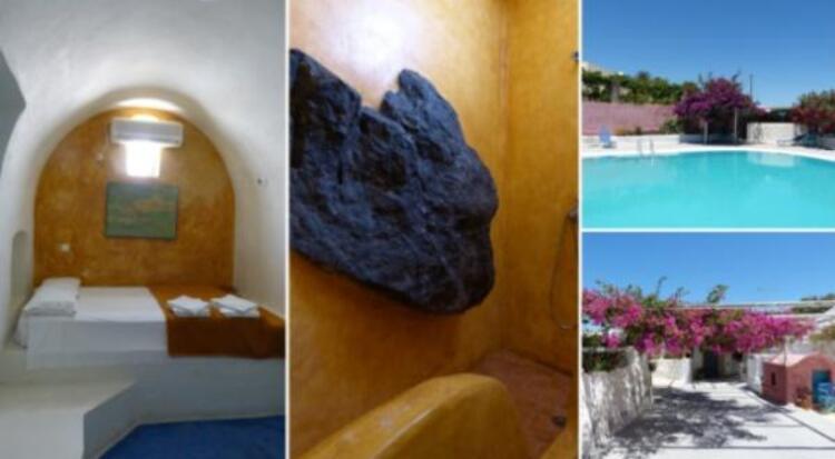 Caveland, Santorini Adası.