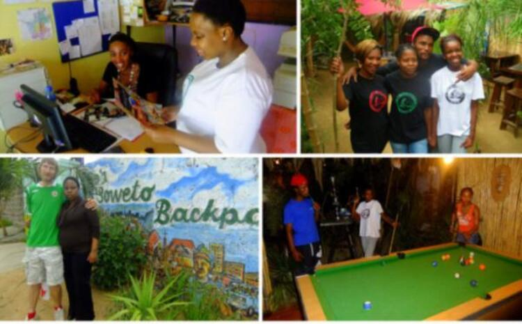 Lebo en Backpackers, Soweto, Gauteng, Güney Afrika.