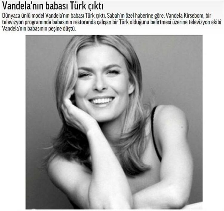 Vandelanın babası Türk çıktı