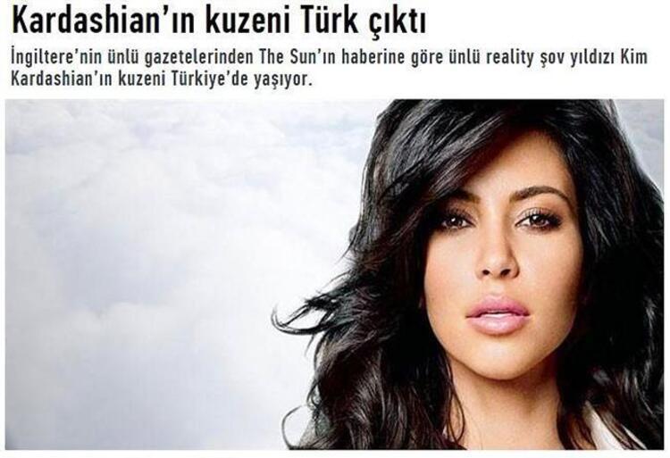 Kuzen Kardashian Türk çıktı