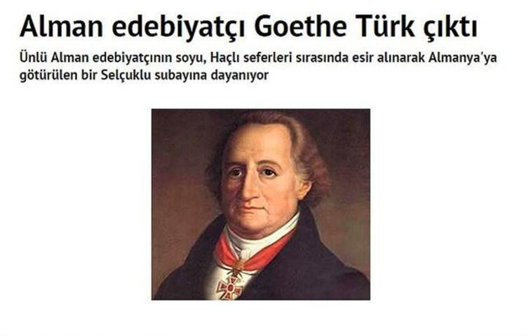 Goethe bile Türk
