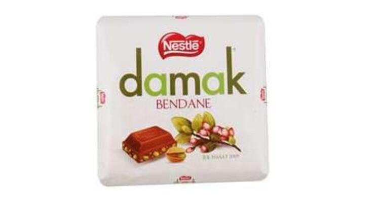 Damak Bendane Antep Fıstıklı Sütlü Çikolata