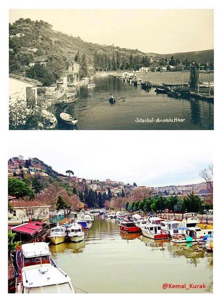 Bu fotoğraflarla geçmişe dönerek, İstanbulun değişimine tanıklık edebilirsiniz. İşte önceki ve şimdiki halleriyle İstanbulun bazı yerleri...Göksu Deresinin dünü bugünü.