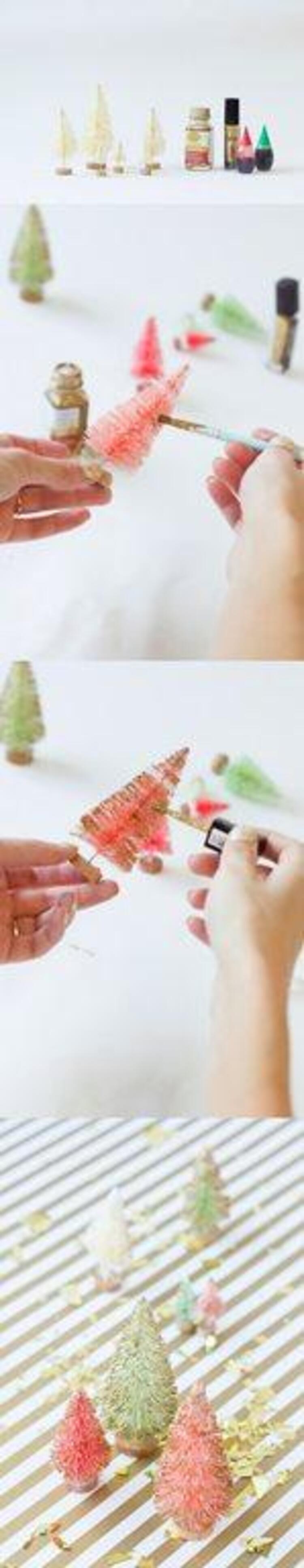 Şişeleri ya da biberonları temizlemek için kullanılan fırçalardan çam ağacı yapabileceğimiz kimin aklına gelirdi...